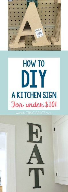 How to Make this DIY Kitchen sign for less than 10!