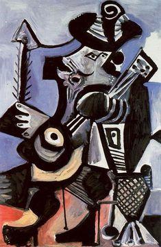 Pablo Picasso. Musicien [Mousquetaire Е la guitare]. 1972 year