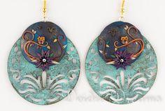 Owl Earrings Flower Earrings Halloween Earrings by DeidreDreams, $55.00