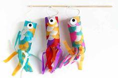 Carpas de papel volantes - Manualidades para niños - Juegos y fiestas - Guia del Niño
