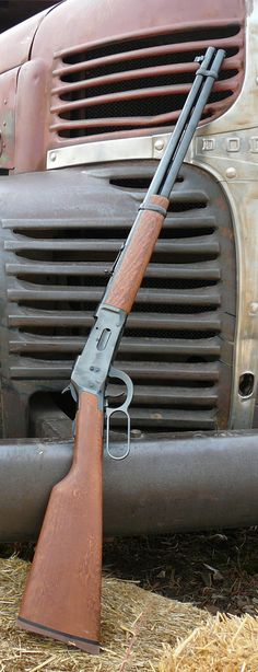 modeled after the the Winchester 1894 lever action rifle. Revolver, Lever Action Rifles, By Any Means Necessary, Hunting Rifles, Cool Guns, Le Far West, Guns And Ammo, Weapons Guns, Firearms