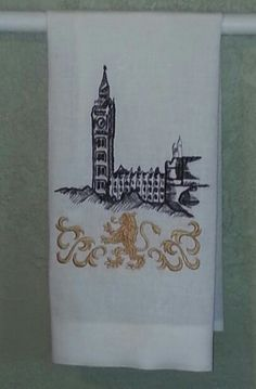 Personalized themed linen kitchen towel