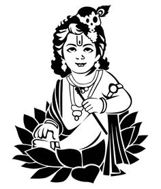 krishna line drawing - Google Search