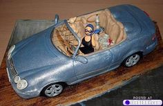 Another collecton of unusual cakes - 50 Pics Fondant Cupcakes, Cupcake Cakes, Car Cakes, Cool Cake Designs, Barbie Cake, Novelty Items, Food Humor, Culinary Arts, Pretty Cakes