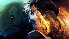 Legend of Korra Avatar Korra Fire Water Earth Water Bending HD Wallpaper Desktop PC Background 1640