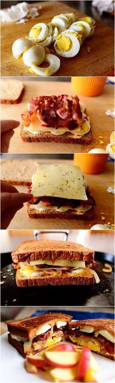 Ultimate Grilled Cheese Sandwich Recipe...looks delightfully unhealthy =)