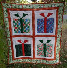 Modern Christmas Presents Quilt or Large by NanasQuiltsandGifts, $70.00