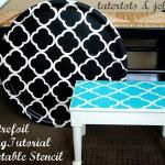 quatrefoil stencil ideas and template- do on kitchen table??  Maybe in a fun color like yellow or blue?