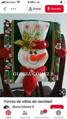 icu ~ Pin en Navidad ~ This Pin was discovered by Julia Angelica Loayza Enriquez. Discover (and save!) your own Pins. Christmas Chair, Christmas Window Decorations, Christmas Ornaments To Make, Christmas 2019, Christmas Stockings, Christmas Wreaths, Christmas Crafts, Merry Christmas, Holiday Decor