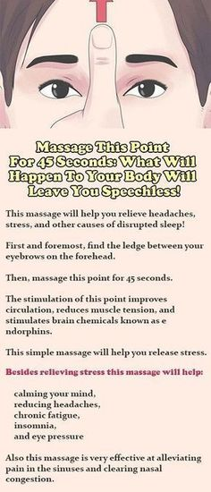 Massage This Point For 45 Seconds: What Will Happen To Your Body Will Leave You Speechless! #acupunctureforstress