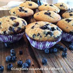 Les plats cuisinés de Esther B: Muffins aux bleuets
