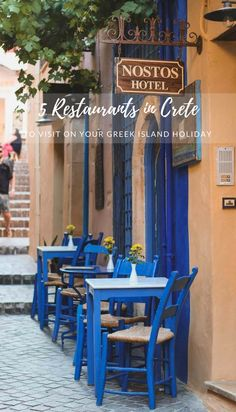 Here are my suggested 5 Crete Restaurants to visit on your Greek island vacation. This includes 3 of my favorite Chania restaurants, taverna in Elafonisi beach and at Agia Marina beach. Also, a short suggestion for a place to stay in Crete. #Greece #Crete #Islands