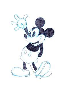 Mickey Mouse--Sketch by PadawanLinea on DeviantArt Mickey Mouse Sketch, Mickey Mouse Drawings, Mickey Mouse Images, Mickey Mouse Wallpaper, Mickey Mouse Cartoon, Mickey Y Minnie, Vintage Mickey Mouse, Disney Mickey, Disney Art