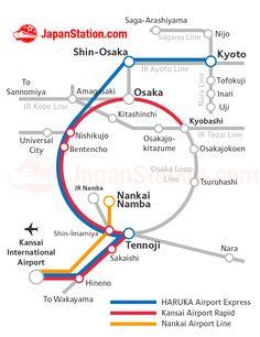 Transportation from Kansai International Airport to Kyoto Map