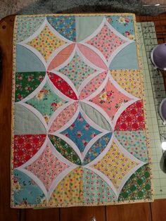Easy Cathedral Window Table Topper