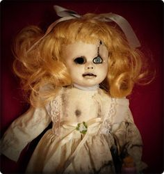 Bastet2329 OOAK Creepy Alice in Wonderland doll with drink me bottle gothic art