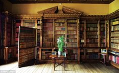 Library with secret door that leads to the Music room