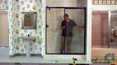 Cửa kính trượt lùa cho nhà tắm