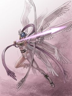 Angewomon... I want to cosplay this so badly