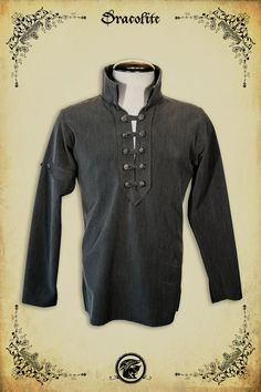 Medieval clothing Gregoire Shirt steam punk clothing by Dracolite, $149.00