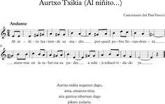 Al Niñito. Canción Popular Vasca