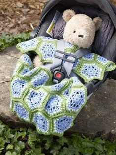 Comfy Car Seat Covers to Crochet for Babies – 10 free patterns – Grandmother's Pattern Book