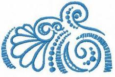 Blue decoration free embroidery design 21. Machine embroidery design. www.embroideres.com