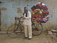 Mobile yarn seller in India...that could get expensive!