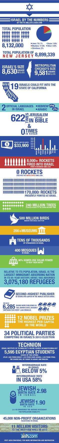 Israel by the Numbers Infographic