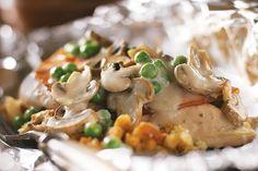 Foil-Pack Chicken & Mushrooms