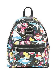Disney Alice In Wonderland Alice Cheshire Cat & White Rabbit Mini Backpack Pretty Backpacks, Cute Mini Backpacks, Unique Backpacks, Disney Handbags, Disney Purse, Alice In Wonderland Bag, Alice In Wonderland Accessories, Chesire Cat, Backpack For Teens