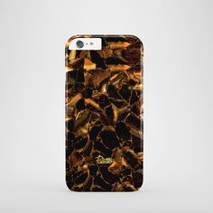 """""""Butterscotch"""" / feature with Caramel & Syrup Gold marble stone printed iPhone cover. #brown #marble #case"""