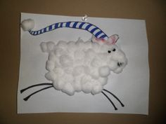 Russel the Sheep Toddler Art, Toddler Crafts, Preschool Crafts, Fun Crafts, Crafts For Kids, Rodeo Crafts, Preschool Learning, Sheep Crafts, Book Crafts