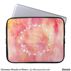 Choose from a variety of Pink laptop sleeves or make your own! Shop now for custom laptop sleeves & more! Christmas Fun, Christmas Wreaths, Custom Laptop, Best Laptops, Best Sites, Personalized Products, Laptop Sleeves, Create Your Own, Merry