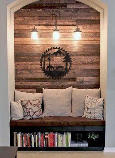 Stunning Easy Home Decor, Cheap Home Decor, Wood Home Decor, Wood Wall Decor, Home Decor Styles, Sweet Home, Wood Plank Walls, Wood Planks, Wood Paneling