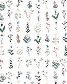 Flowers illustration tattoo sketch 68 ideas for 2019 Art Floral, Ditsy Floral, Floral Prints, Floral Doodle, Flower Patterns, Flower Designs, Print Patterns, Flower Pattern Drawing, Pattern Sketch