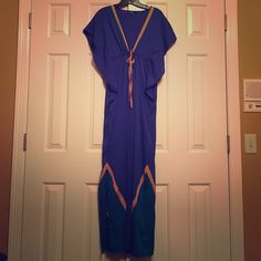 Blue, Long, Slender Dress For all you tall girls, this dress is for you! Loving the blue color with that slit at the end!  Stella & Dot boutique! Never been worn bc I'm too short for it!! So take it please! Stella & Dot Dresses