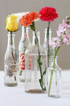 Fresh flowers are a treat for yourself and your home. The clean up afterwards, especially on narrow-necked vases, not so much. Our solution? Denture cleaner! The tiny tablets pack a punch and go to work on a myriad of household chores —and can be stored away with ease.