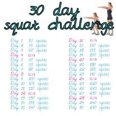 squat challenge chart | Kokeilkaa tekin! Tulkaa sitten 30 päivän päästä kertomaan, että ...