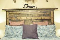 Reclaimed Wood Headboard | Salvaged Wood Decorating Ideas