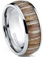 Titanium+and+Genuine+Wood+Comfort+Fit+Wedding+by+Cloud9Tungsten,+$66.00