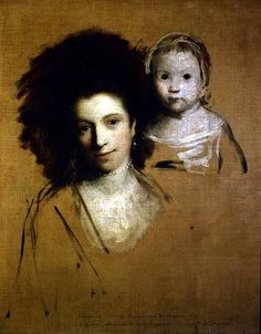 Georgiana, Countess of Spencer, and her Daughter - Joshua Reynolds 1759