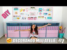 DECORANDO MEU ATELIÊ #1 - DIYs PEGBOARD e GAVETEIRO | Paula Stephânia - YouTube