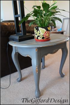 Shabby chic painted end table