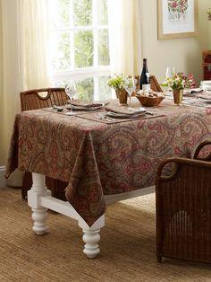 Fenton Paisley Tablecloth - - RalphLauren.com