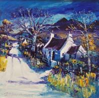 Road home, Winter in Perthshire Vibrant Colors, Colours, Oil On Canvas, Landscape, Gallery, Winter, Painting, Art, Winter Time
