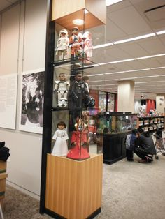 My Star Wars dolls on display for Star Wars Extravaganza (I) at the Skokie Public Library, 10/2013 - 12/2013