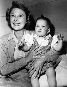 June Allyson with her adopted daughter Pamela (1948)