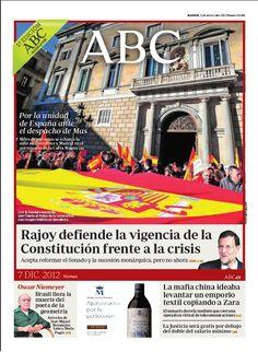 La portada de ABC del 7 de diciembre