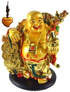 Shop a great selection of Betterdecor Feng Shui Golden Laughing Happy Buddha Holding Ingot Statue Decoration Charm. Find new offer and Similar products for Betterdecor Feng Shui Golden Laughing Happy Buddha Holding Ingot Statue Decoration Charm. Buddha Statue Meaning, Buddha Statue Home, Buddha Statues, Feng Shui To Attract Money, Feng Shui Tips For Wealth, Feng Shui 2019, Feng Shui Dicas, Feng Shui Bedroom Tips, Feng Shui Symbols